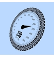 Speedometer Styling by tire vector image vector image