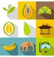 Country Sri Lanka icons set flat style vector image