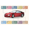 Car parts for infographics vector image