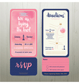 Tying the knot water colour wedding card template vector image