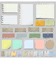 set of various notes paper vector image vector image