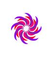 Flower Concept Logo Icon Template vector image vector image