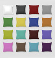 Set of realistic colored pillows vector image vector image