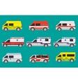 Ambulance cars vector image