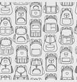 backpacks seamless pattern vector image