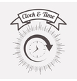 clock and time design vector image