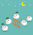Counting Sheep Jumping Over Fence vector image