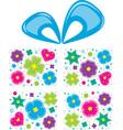 Present flowers vector image