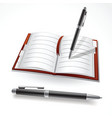 writing in a journal vector image