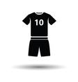 Soccer uniform icon vector image