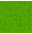 Line Christmas Green Seamless Pattern vector image