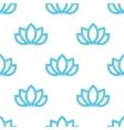 lotus flowers pattern Oriental background vector image vector image