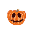 Smile Pumpkin Single Halloween Design Element vector image