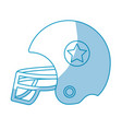 silhouette football helment to uniform to play vector image