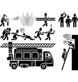 ICON MAN FIREFIGHTERS vector image