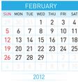 february calendar vector image vector image