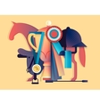 Win in equestrian sport vector image