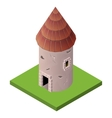 Isometric icon of medieval tower vector image vector image