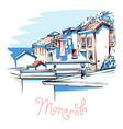 colorful houses in manarola ligury italy vector image