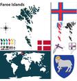 Faroe Islands map world vector image