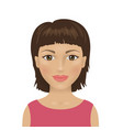 female avatar icon young attractive woman vector image