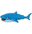 funny shark cartoon for you design vector image