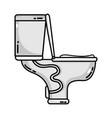 grayscale toilet plumbing equipment service repair vector image