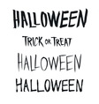 Halloween and Trick or Treat phrase hand drawn vector image