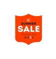Hot summer sale banner discount banner vector image