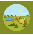 image of camping on vocation vector image
