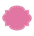 pink label ornament emblem decoration vector image