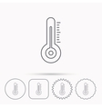 Thermometer icon Weather temperature sign vector image