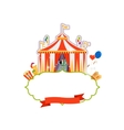 Vintage circus isolated element vector image