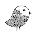 Zentangle stylized pigeon vector image