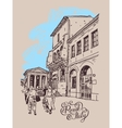 digital drawing of Rome street Italy old italian vector image vector image