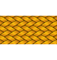 Golden fabric weaving vector image