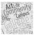 baltimore community colleges Word Cloud Concept vector image