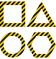 geometric shapes layout with warning yellow and vector image