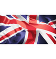 british flag waving vector image