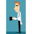 Tired cartoon office worker vector image