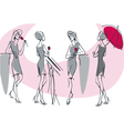feminine silhouette collection vector image