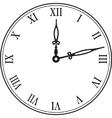 black wall clock vector image vector image