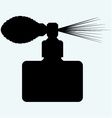 Perfume spray bottle vector image