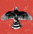 grunge vintage bird vector image
