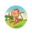 monkey cartoon colorful design vector image