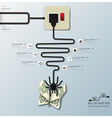 Spider Web With Money Butterfly Electric Wire Line vector image