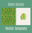 cover design with jungle leaves vector image