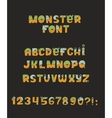 cute colorful kind monster font Every vector image
