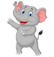 Cute elephant cartoon presenting vector image