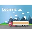 Design for banner truck vector image